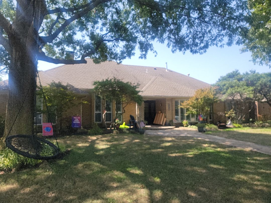 Dallas, TX - Roof inspection for hail damage.