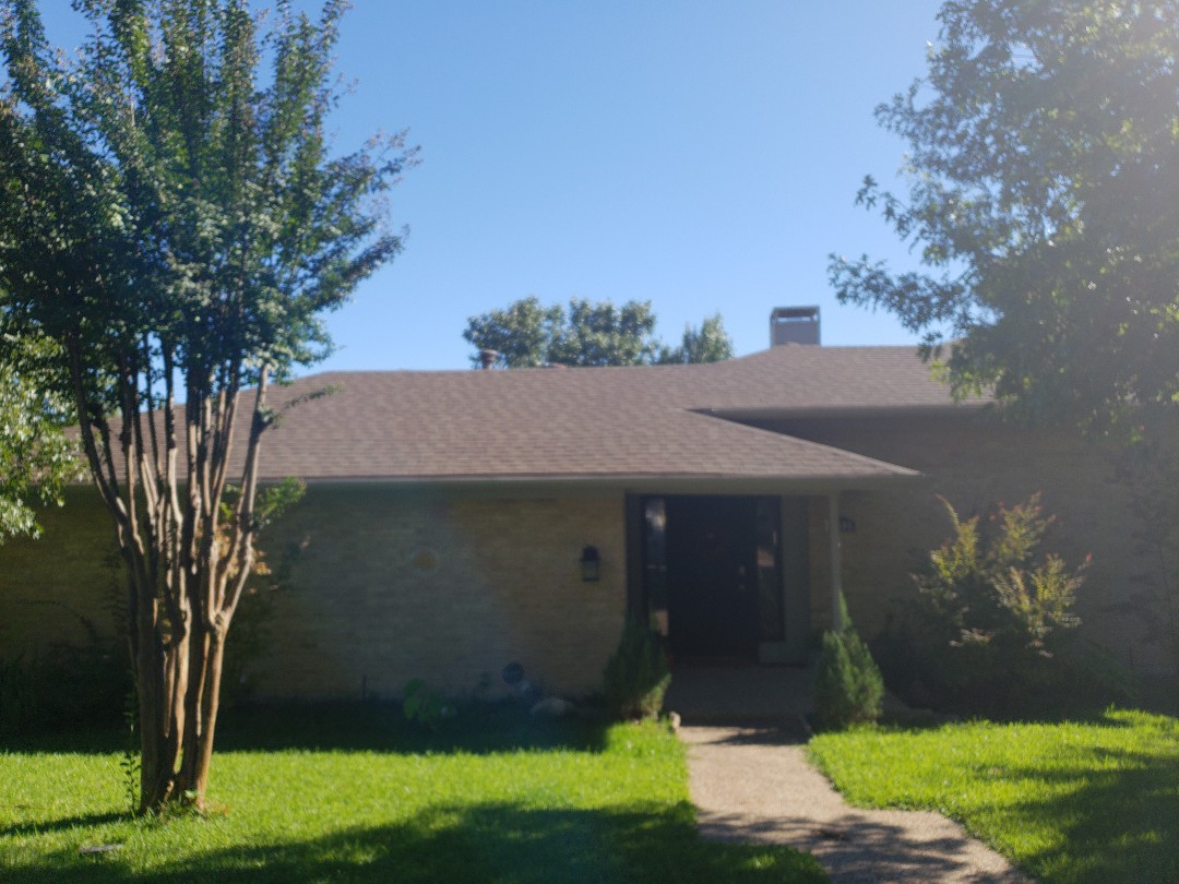 Dallas, TX - A recent inspection revealed hail damage on this home, which is under contract for sale.