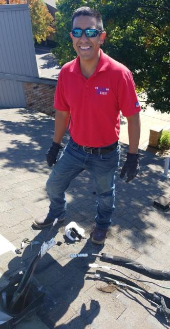Dallas, TX - Water damage on roof. Full roof replacement.