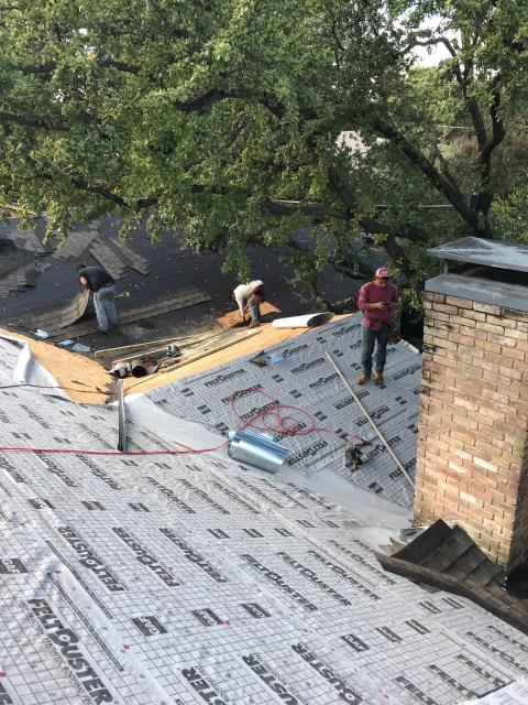 Dallas, TX - In process of replacing entire roof for customer.