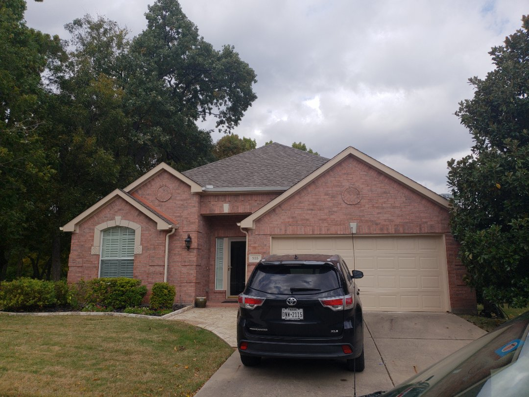 Dallas, TX - Quality inspection on a roof install.
