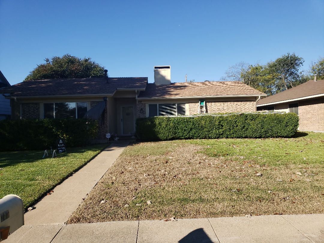 Richardson, TX - This homeowner will receive their second roof in 3 years. #hailhurts