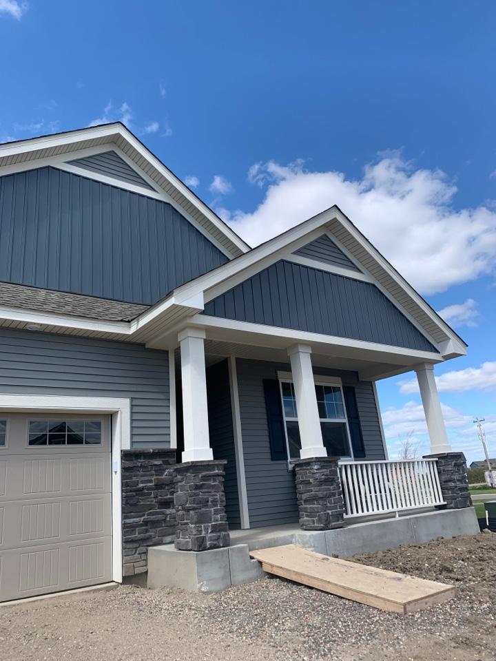 """Otsego, MN - Estimate for 5"""" k style gutter with 3x4 downspout on new home construction"""