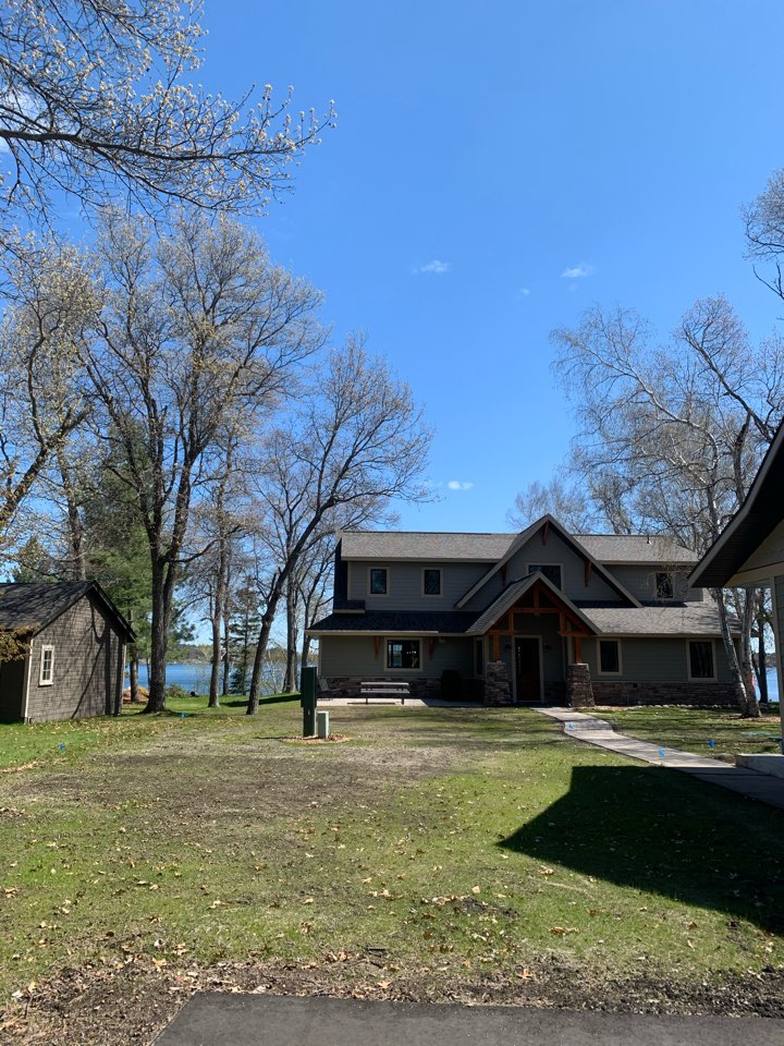 """Pine River, MN - Contact Advantage Seamless cutters to protect your beautiful new home on the lakes in the woods they can protect you with the best gutter products available for home 1/2 Round Gutters 5 inch 6"""" designer Gutters custom applications your Lake country gutter expert if Advantage seamless gutters"""