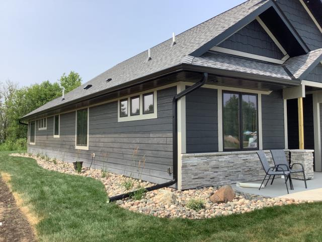"""East Gull Lake, MN - Added new 6"""" k-style seamless gutters and 3x4 downspouts to this beautiful home located in East Gull Lake, MN."""