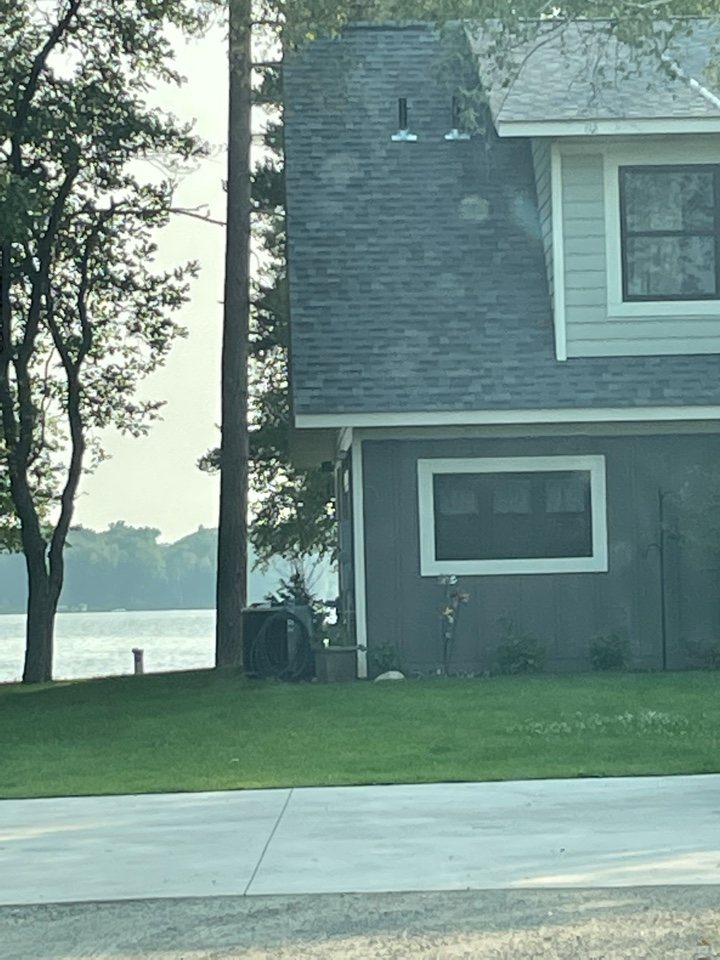 Crosslake, MN - Time to protect his home with 6 inch gutters and Valor gutter protection Call Advantage Seamless gutters your lake area Lake country Crosslake gutter expert