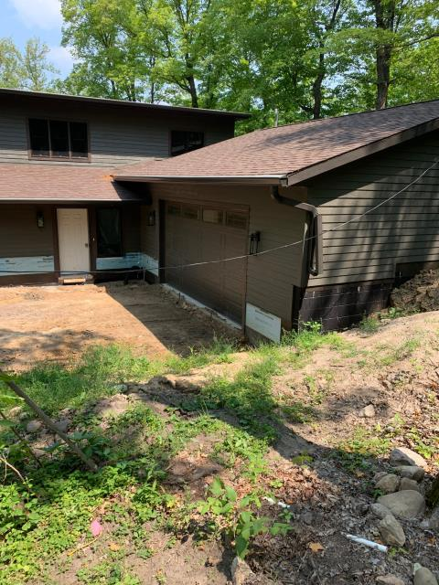 """Long Prairie, MN - Installed new 6"""" seamless gutters and 3x4 downspouts with our Valor gutter protection to this home located in Long Prairie, MN."""