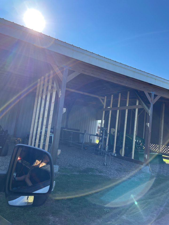 Crosslake, MN - Adding gutters to a pole shed is easy if you put on snow brakes and snow buyers to protect the gutter call Advantage Seamless gutters deer Lakes area lake country Crosslake gutter experts