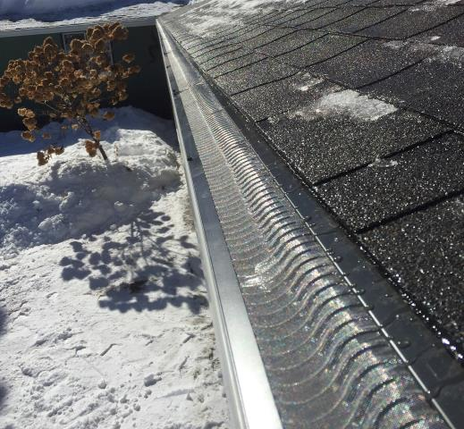 """Pequot Lakes, MN - Catch the drip with 6"""" K-style gutters, and never clean your gutters again with Valor Gutter Guards."""