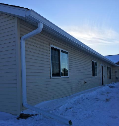 """Brainerd, MN - 6"""" K-Style gutters are a good way to get the water away from your foundation and walkways."""