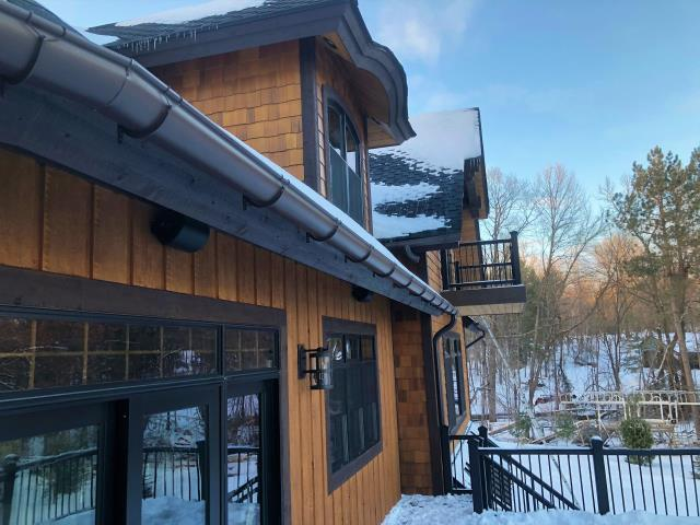 Aitkin, MN - Half Round Gutters are a beautiful way to protect your home. Catch and control the water your house displaces with a elegant and efficient Half Round gutter system today.