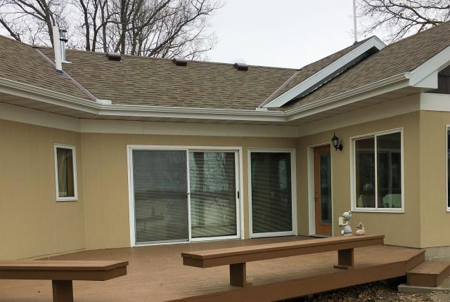 Little Falls, MN - Custom five inch seamless k-style gutters with Valor gutter guards. never get on a ladder to clean your gutters again. Valor is the best cover on the market, leading the way in the gutter cover industry. Find out today the benefits of never cleaning your gutters again!