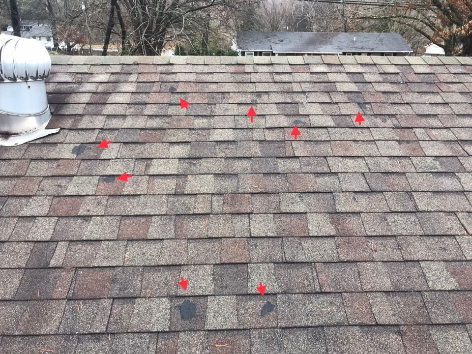 Knoxville, TN - Quoting roof replacement and repairs