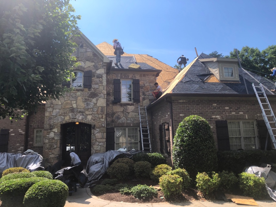 Knoxville, TN - We're here installing a new Owens Corning roof system on this gone.