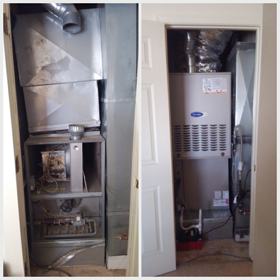 Rio Rancho, NM - Before and after pictures of a split system conversion done by AirPro.