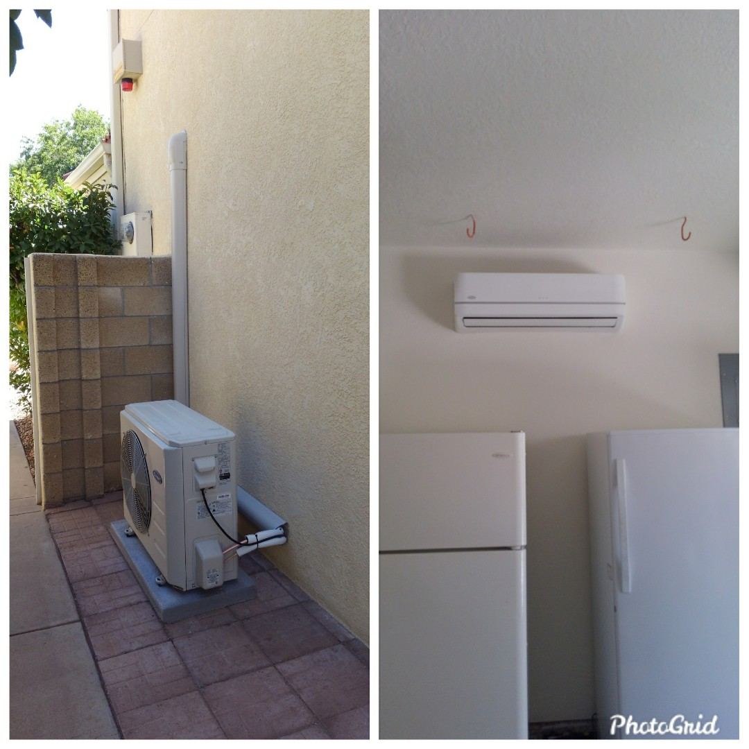 Albuquerque, NM - Ductless split system installed by AirPro.
