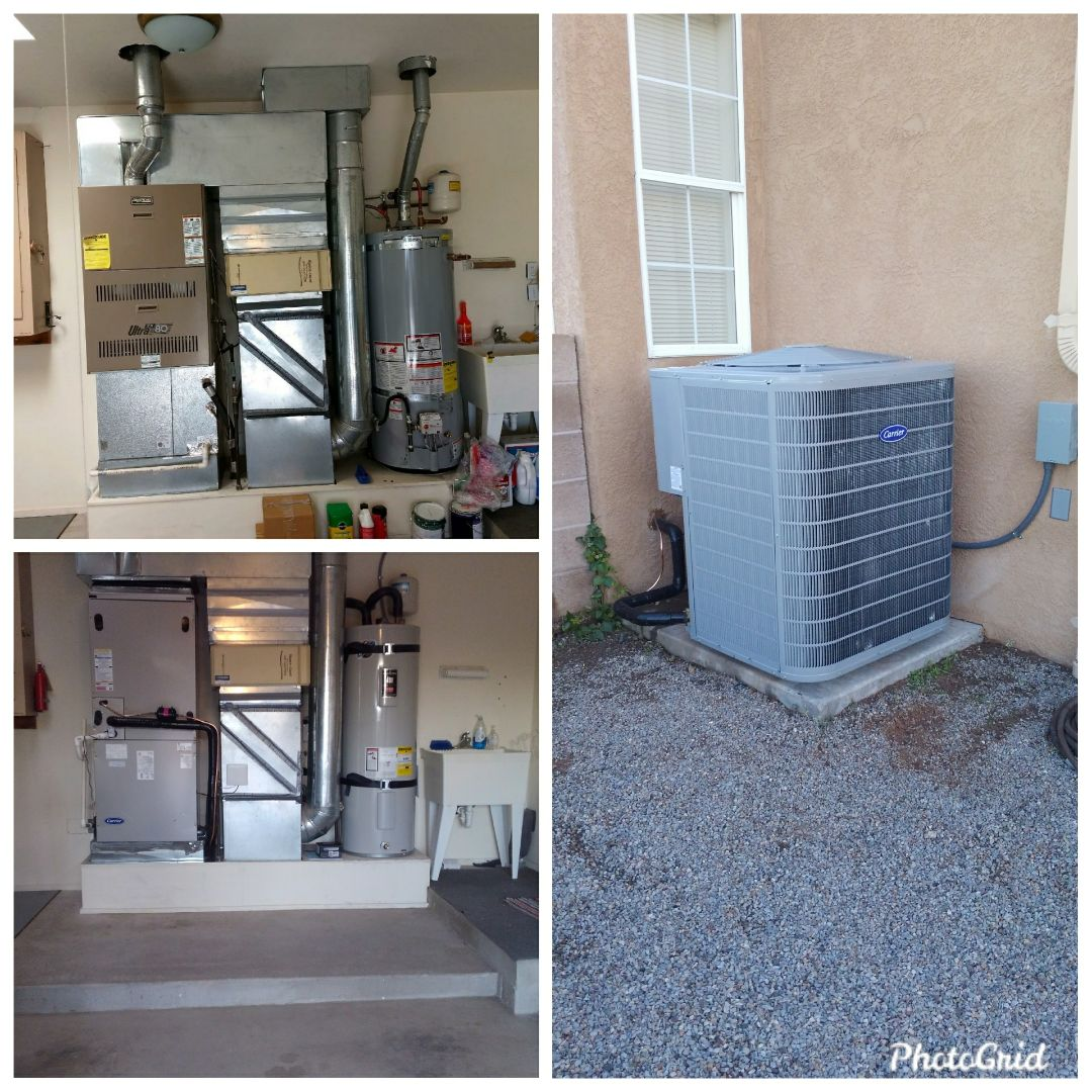 Placitas, NM - Old furnace upgraded to heat pump system with heat strips done by AirPro.