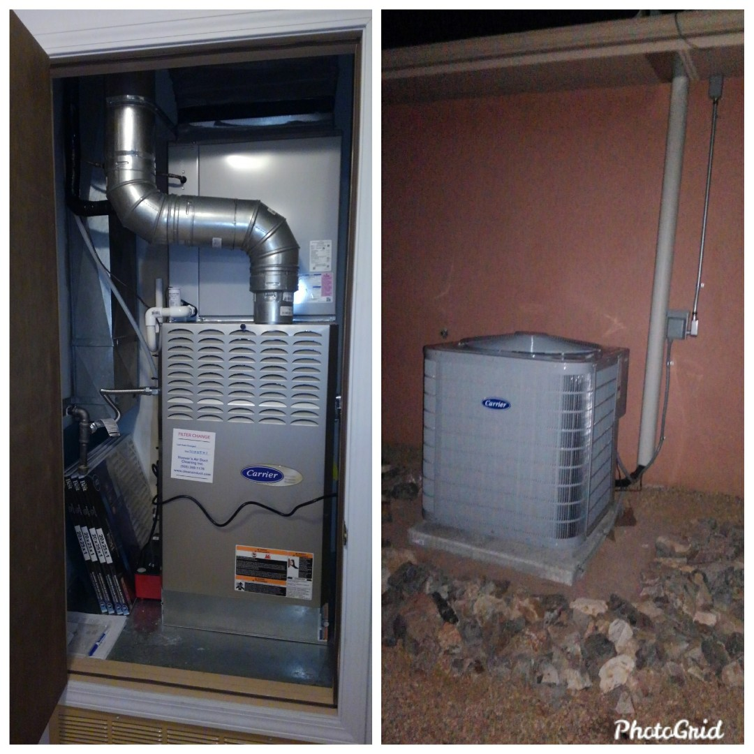 Albuquerque, NM - Existing furnace to refrigerated air done by AirPro.