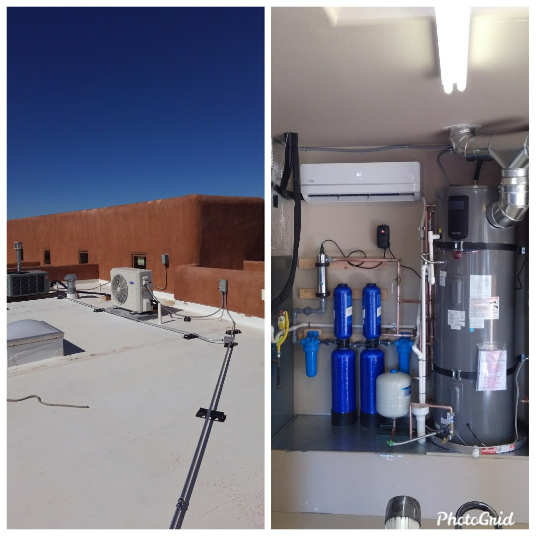 Bernalillo, NM - Ductless split system with hybrid heat pump water heater and filtration system done by AirPro.