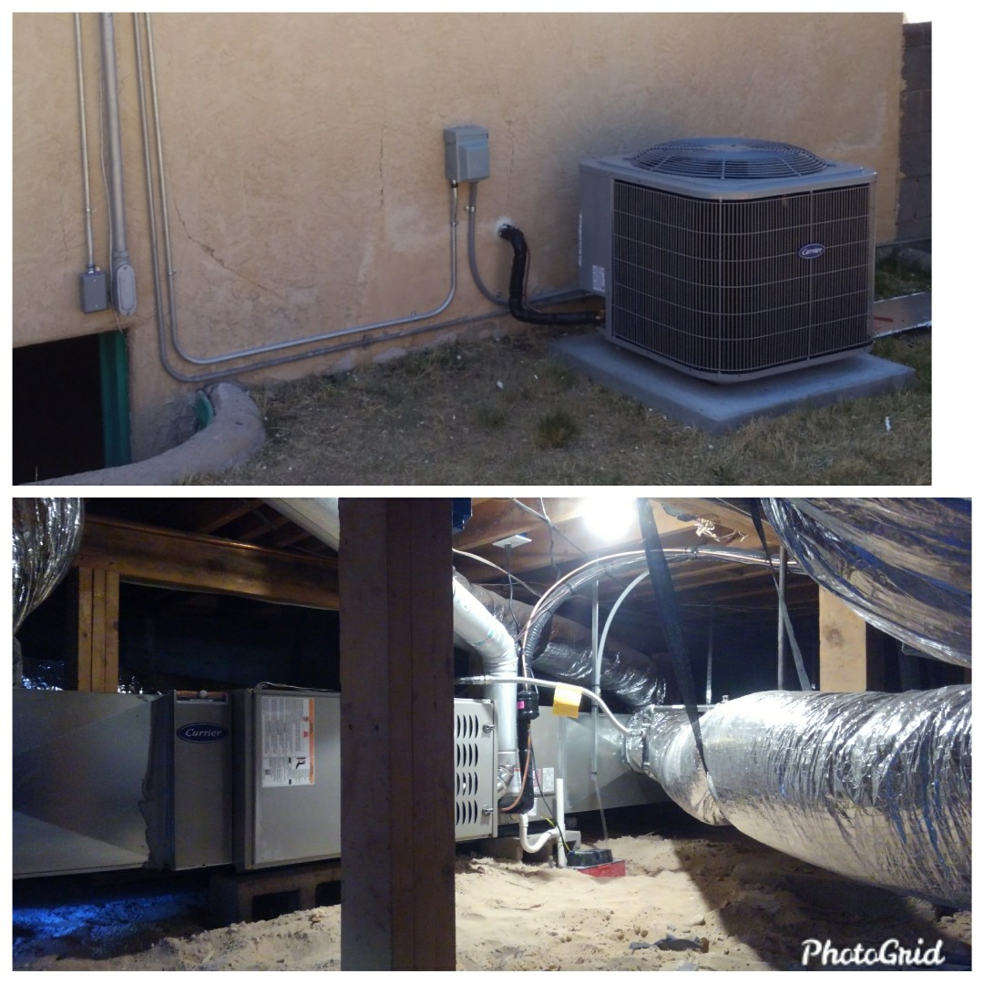 Albuquerque, NM - New heat pump split system and all new ductwork done by AirPro.