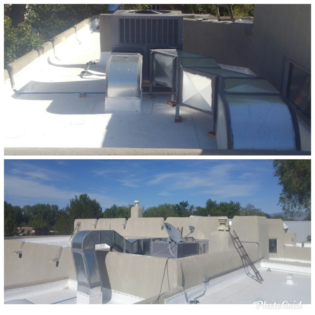Albuquerque, NM - New heat pump package units with new ductwork installed by AirPro.