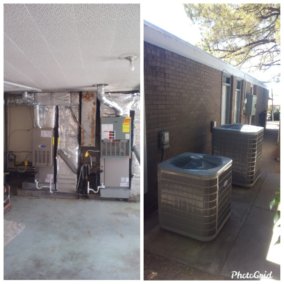Albuquerque, NM - Replacement of two A/C split systems done by AirPro.
