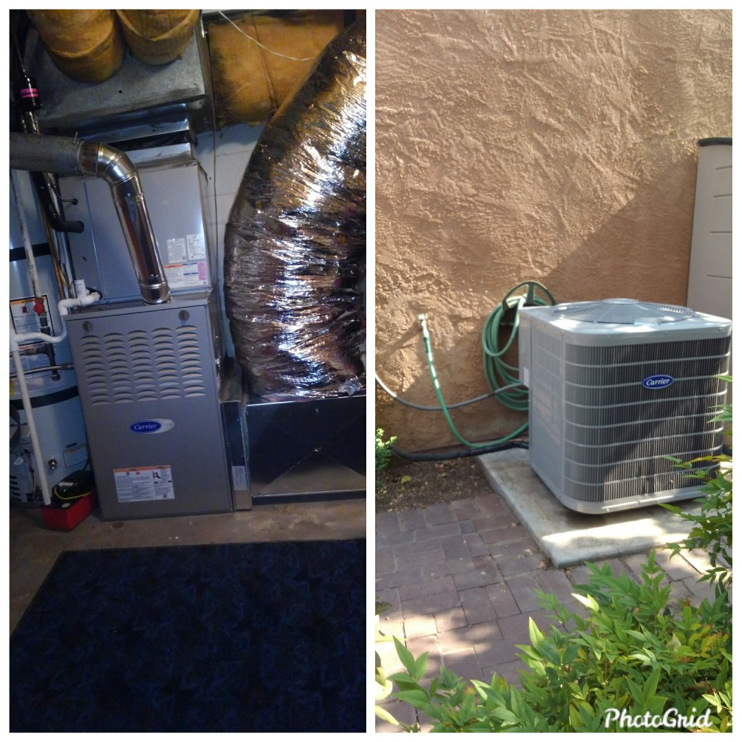Albuquerque, NM - Existing A/C split system upgrade done by AirPro.