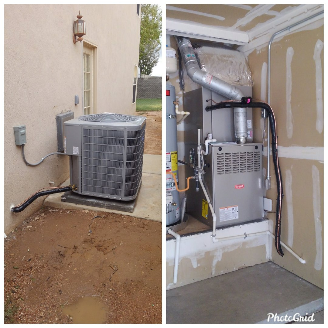 Albuquerque, NM - Swamp cooler conversion to a refrigerated air system.