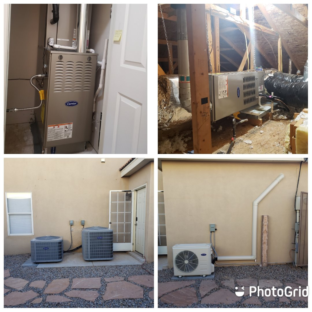 Albuquerque, NM - Upgrading of two existing A/C split systems along with a ductless split system.