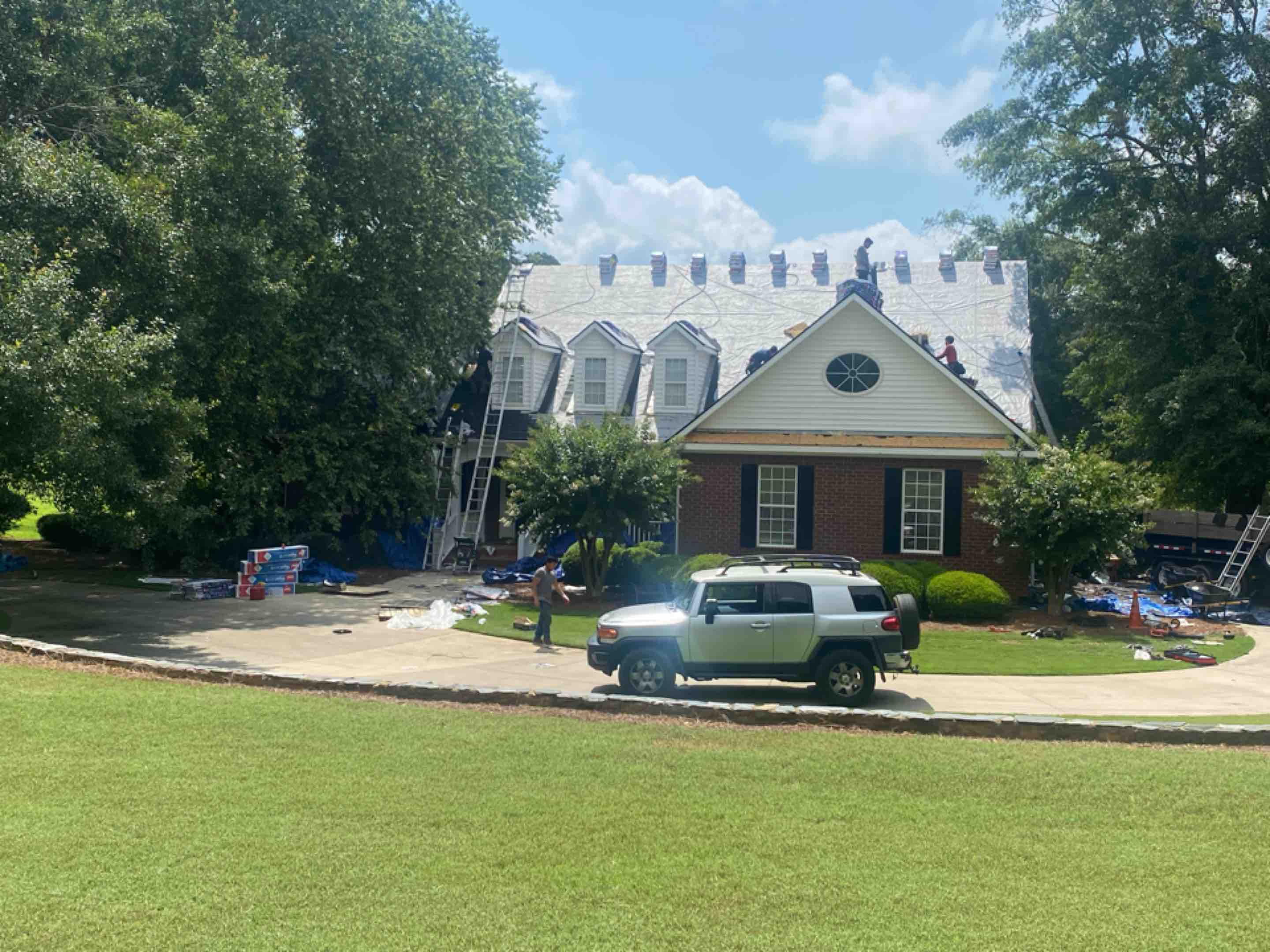 Bishop, GA - Installing a new Roof due to hail damage!!