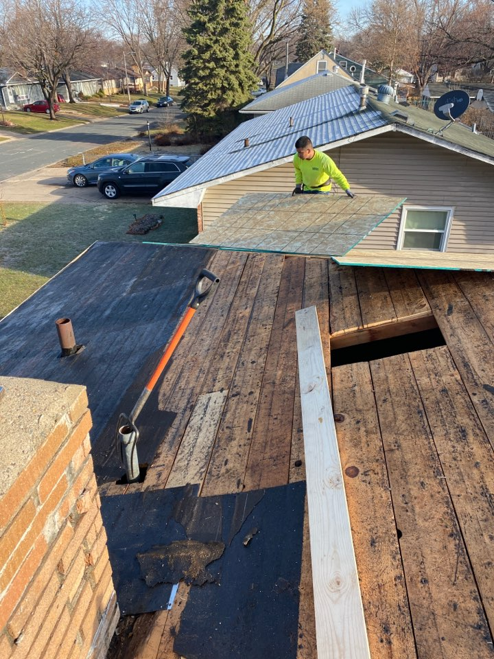 Roofing is back in!  Owens Corning shingles being installed in Columbia Heights. Love the sound of those nail guns again!!!