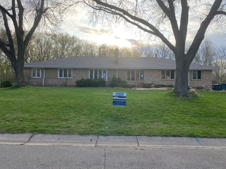 Another successful insurance claim approved!  Roofing, soffit and fascia, and gutters jobs complete in Edina!