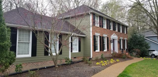 Midlothian, VA - Skyline Windows will soon be installing vinyl replacement windows in this beautiful home.
