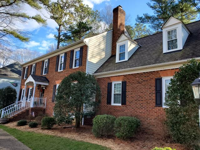Richmond, VA - This customer wanted to replace his old drafty windows with something more energy efficient. Skyline replaced all 35 of their windows with beautiful Okna vinyl windows.