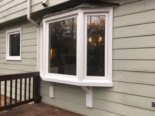 Midlothian, VA - We replaced window in this beautiful home last week including fully trimming out a bay window in pvc trim.