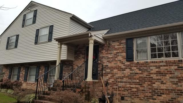 Richmond, VA - Exploring replacement window options for this home in Henrico, VA.  This customer is interested in vinyl windows that match in color to the rest of his house.