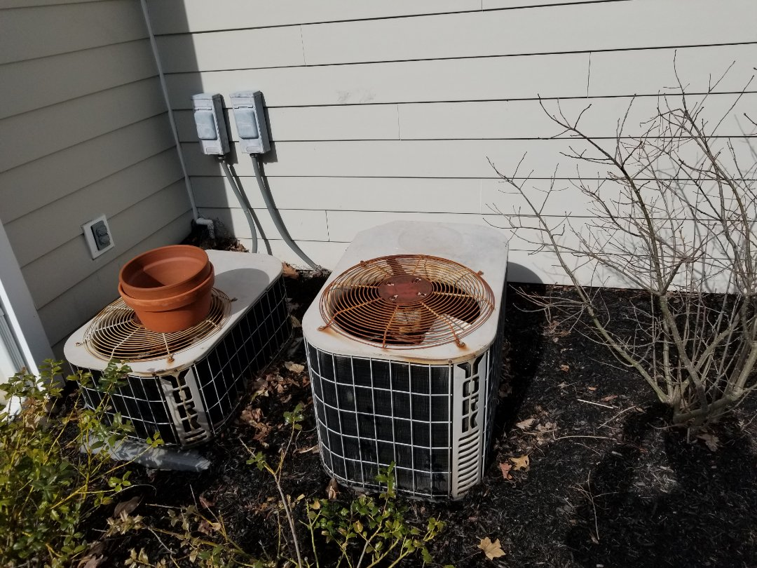 Doylestown, PA - Free estimate to replace air conditioner in Doylestown. replace old york air conditioner. install new high efficiency Trane heat pump with trane air handler. install whole house filtration system. install new ductwork on the attic.