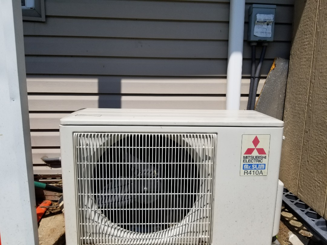 Bristol, PA - Air conditioning service call in Bristol. check Mitsubishi mr. slim ductless mini-split air conditioner. found low refrigerant charge. check air conditioner for freon leaks. repair leaks and flare fittings connections. recharge air conditioner with freon. check ac operation.