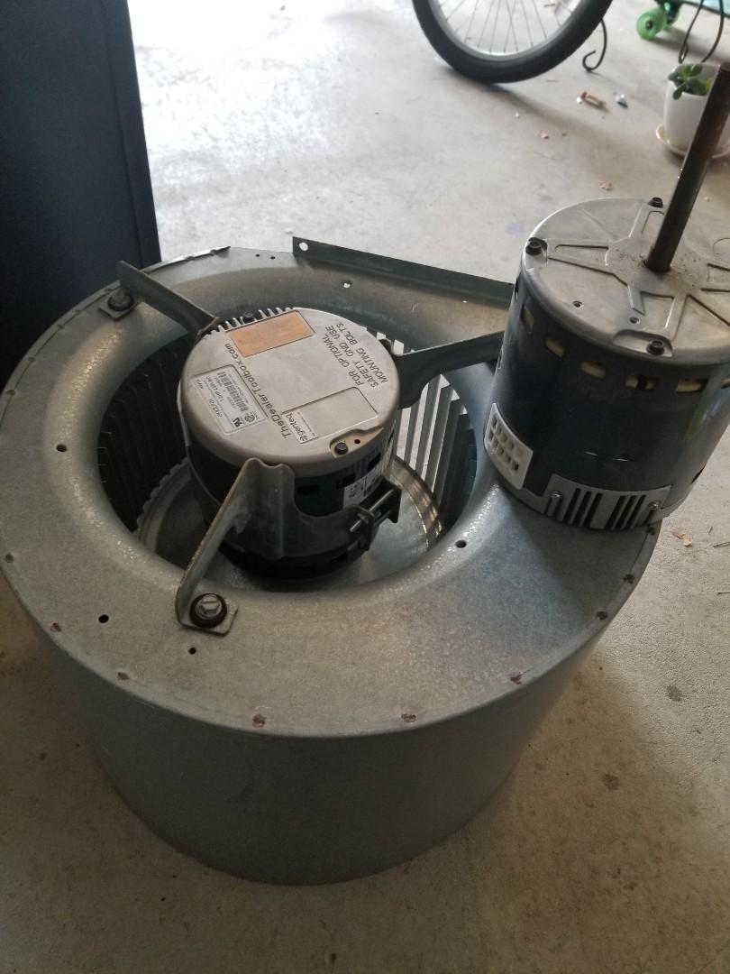Warrington, PA - heat pump service call in Warrington. check yourr heat pump. found bad blower motor in York air handler. install new blower motor. check heat pump operation