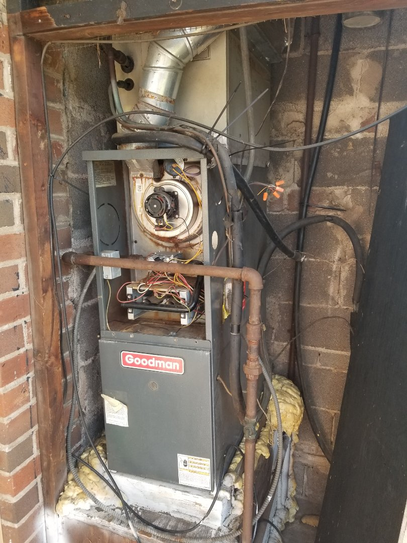 Fairless Hills, PA - no heat service call in Fairless Hills. check Goodman furnace no heat problem. Goodman furnace is not working properly. need install new Goodman furnace and new Goodman air conditioner.