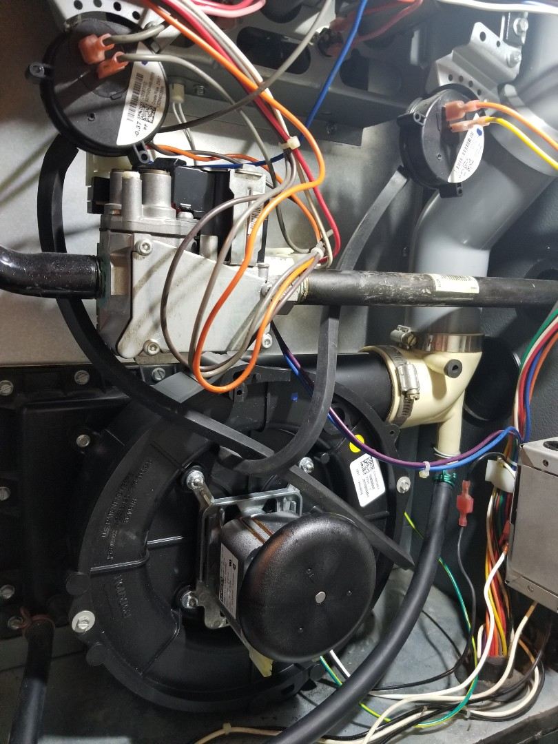 Croydon, PA - heater repair in Bensalem. check Goodman furnace. found bad inducer motor. install new inducer motor. check furnace operation.