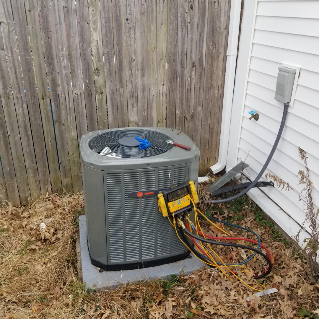 Bensalem, PA - maintenance service for trane air conditioner and gas furnace. performed tune up service on Trane air conditioner and Trane furnace. check air conditioner refrigerant charge and operation. check gas furnace operation. check furnace combustion. clean furnace.