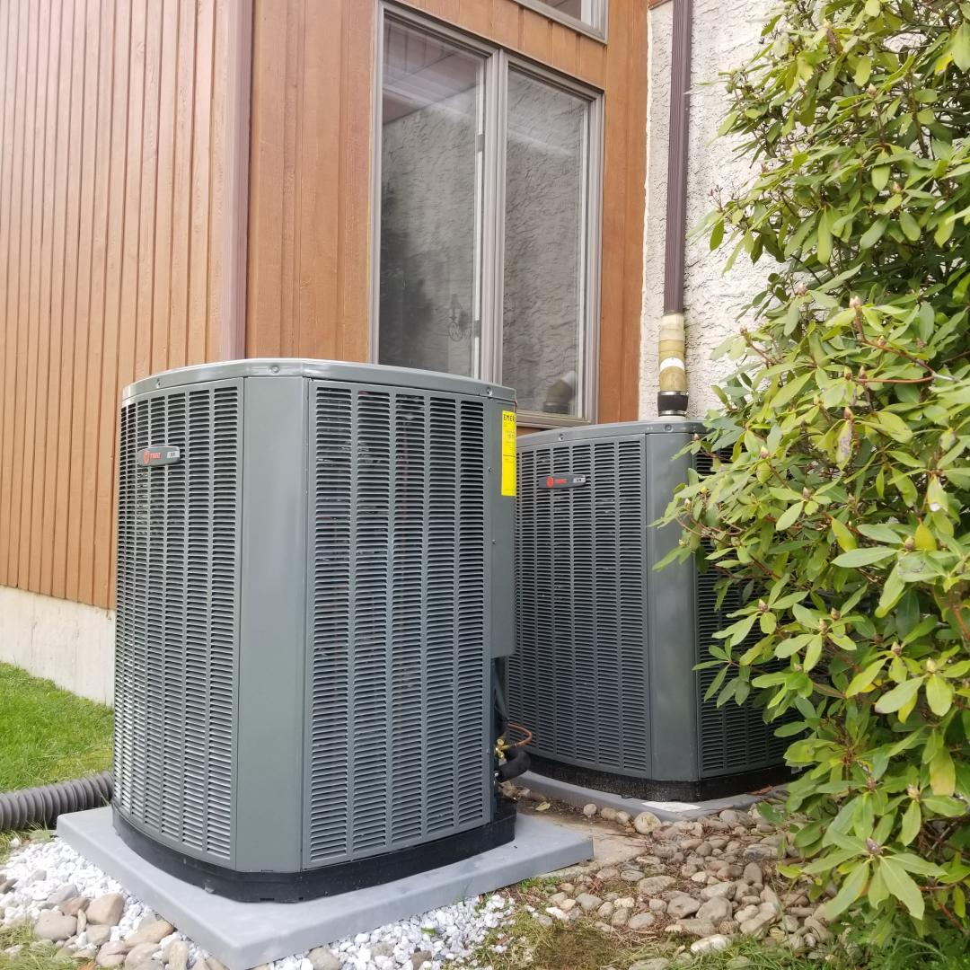 Dresher, PA - Install new system in Dresher. install new High Efficiency Trane s9v2 gas furnace on the attic. install new Trane XR17 two stage air conditioner on the back yard. connect Nest thermostat. install New honeywell media filter.