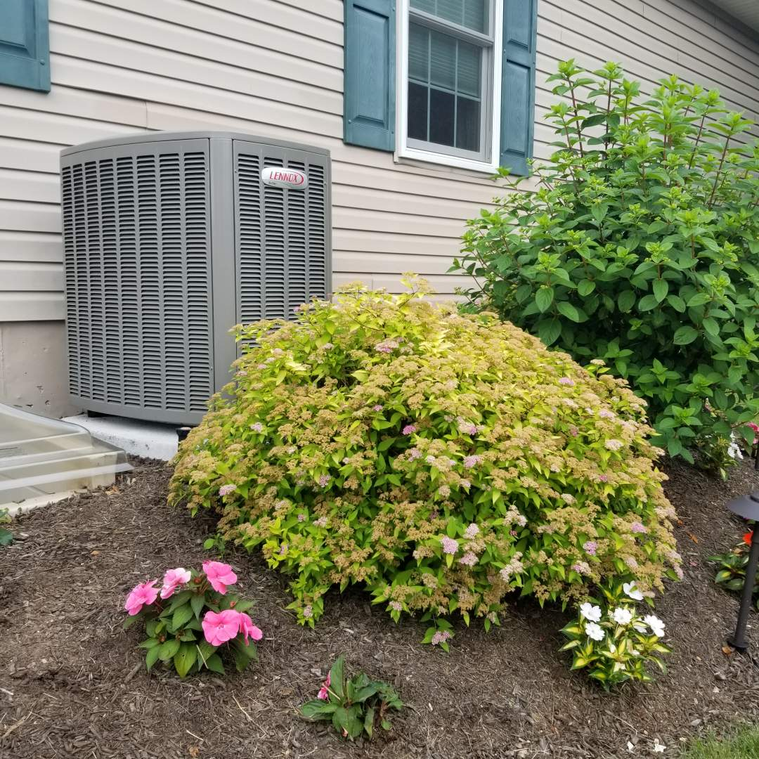 Bensalem, PA - Install new Lennox heater and air conditioner in Bensalem. Install Lennox Elite EL280 forced air gas furnace in the basement, Install Lennox Elite XC16 16 SEER 2 ton air conditioner on the side of the house. Install ecobee 4 smart thermostat.