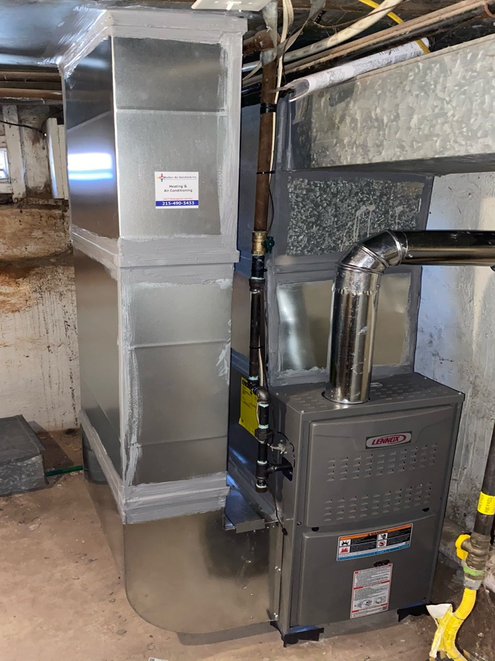 Philadelphia, PA - Furnace installation call. Performed Furnace install on Lennox Unit.