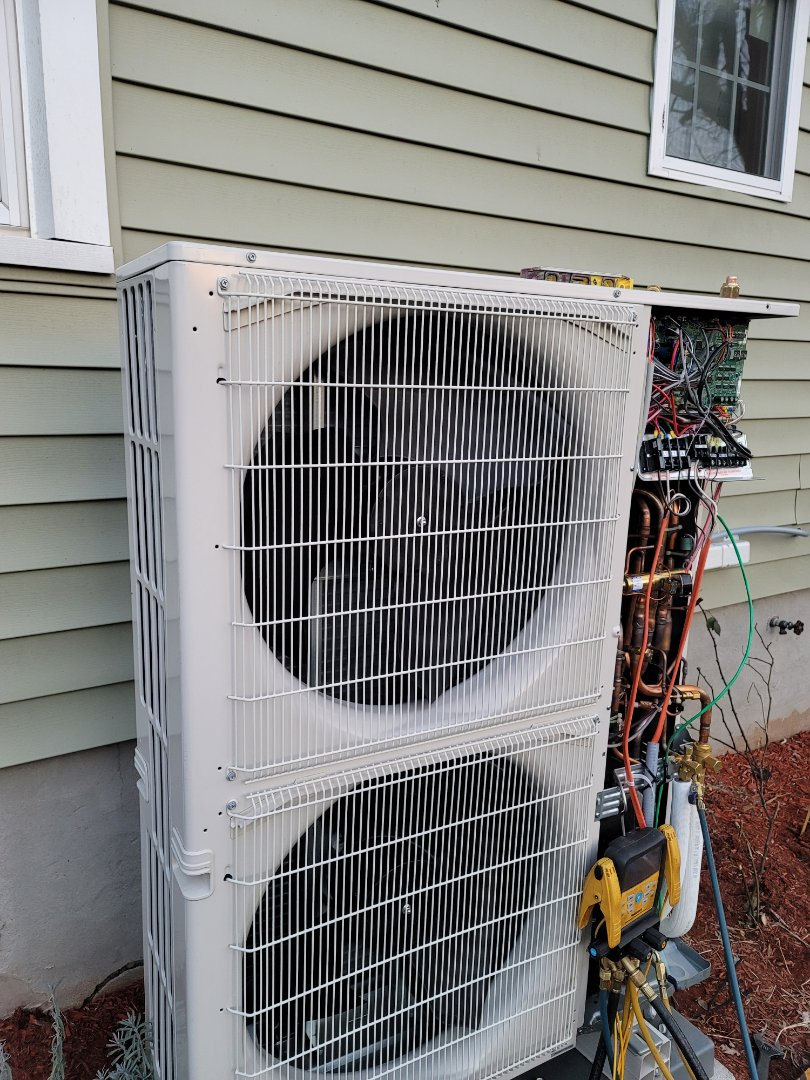 Bensalem, PA - Ductless minisplit installation call. Performed ductless minisplit install on Mitsubishi hyperheat Unit.