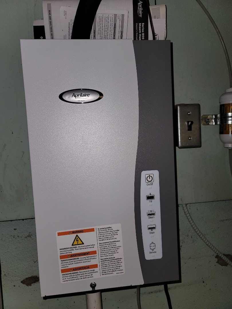 Philadelphia, PA - Heating tune up, performed annual maintenance on Lennox furnace. Performed installation of Aprilaire steam humidifier.