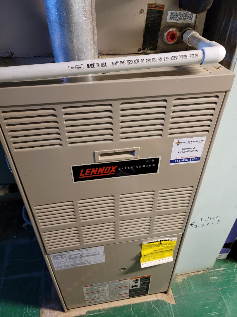 Philadelphia, PA - Heating service call. Performed Furnace repair on Lennox Furnace.