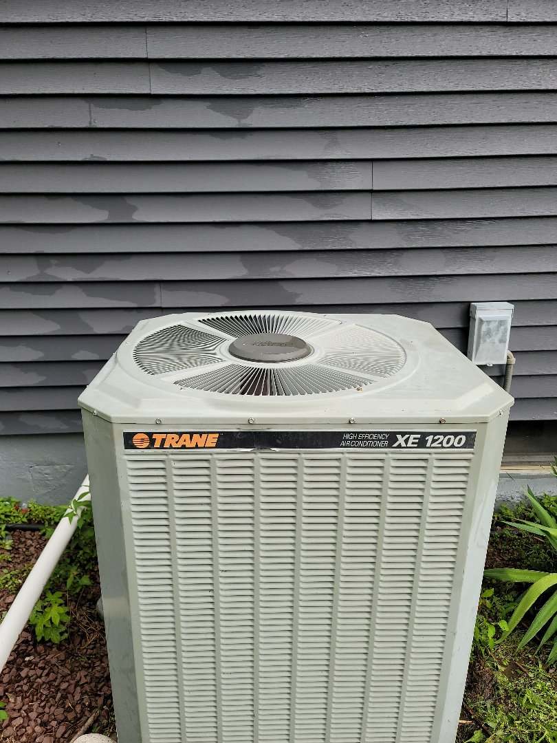 Warminster, PA - AC service call. Performed AC repair on Trane unit.