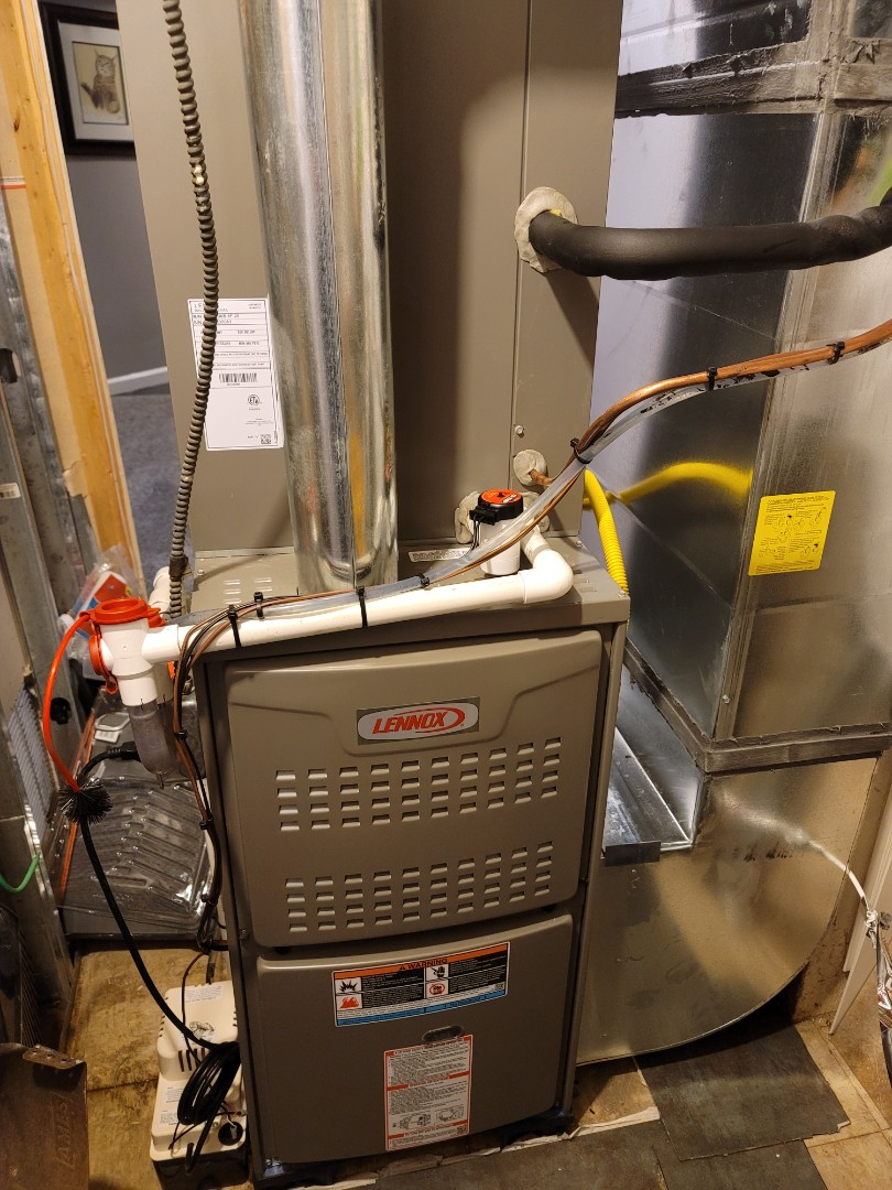 Philadelphia, PA - Furnace and air conditioner installation call. Performed Furnace install on Lennox Unit. Performed Install on Lennox high efficiency air conditioning unit.